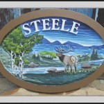 hand carved address signs in Evergreen, CO