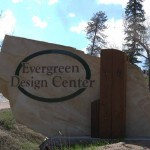Evergreen Design Center Stone Monument