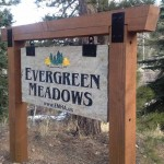 Evergreen Meadows Stone Monument