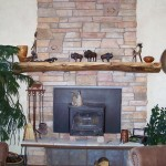 Fireplace Mantel and Stones