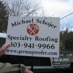 Roofing Yard Sign